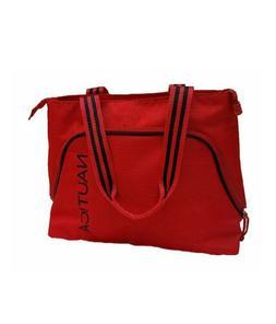 $110 NAUTICA CATAMARAN II 2 Luggage Red Black Boat TOTE BAG