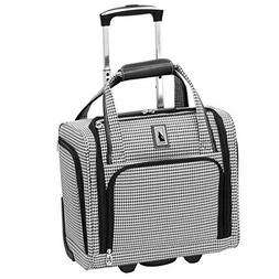 """15"""" Under Seat Luggage Carry On 2 Wheel Suitcase Travel Bag"""