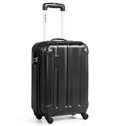 """18"""" ABS Luggage Suitcase Carry On Lightweight Hardshell 4-Wh"""