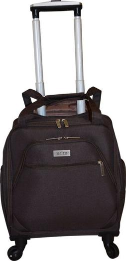 "18"" Carry-On Wheeled Luggage Rolling Underseat Suitcase Trav"