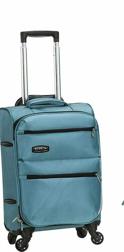 """$180 New Rockland Gravity 20"""" Carry On Luggage Aqua Blue Sui"""