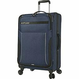 "Nautica 19"" Expandable Carry On Spinner Luggage, Navy/Black"