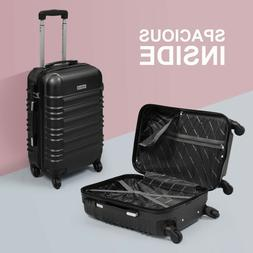 "20"" ABS Carry On Luggage Travel Bag Trolley Suitcase Lightwe"