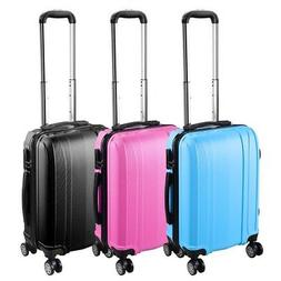 """20"""" Carry On Travel Luggage Bag Trolley Fashion Suitcase ABS"""