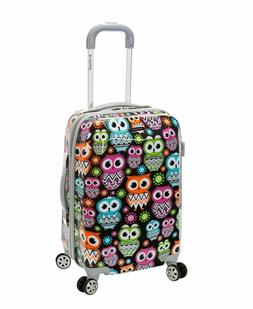 Rockland 20 Inch Polycarbonate Carry On, Owl, One Size