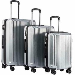 20in24in28in Luggage Expandable Suitcase PC+ABS 3 Piece Set