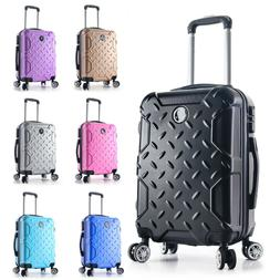 """22"""" Carry on Travel Luggage Lightweight Rolling Spinner Hard"""