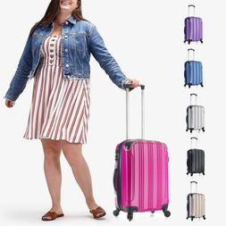 CARRY ON 22x14x9 Luggage 4 Wheels Rolling Spinner Lightweigh