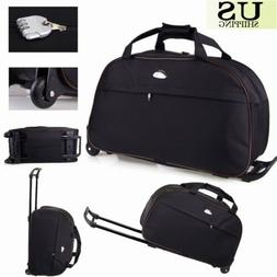 "24"" Rolling Wheeled Tote Duffle Bag Carry On Luggage Travel"