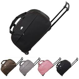 """24"""" Rolling Wheeled Tote Duffel Suitcase Carry On Trolley Ba"""