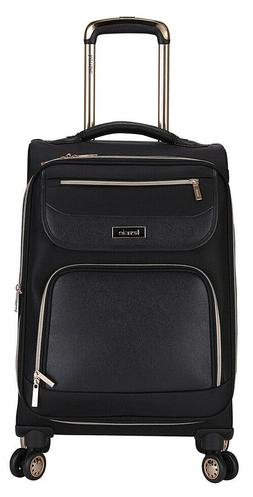 kensie 28 INCH LUGGAGE EXANDABLE ROLLING  SOFT SIDE black