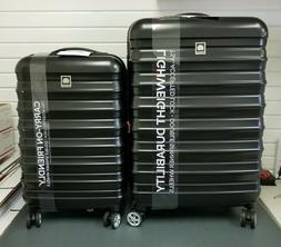 """2pc Delsey Paris Luggage Resistance Lite 25"""" Expandable & 21"""