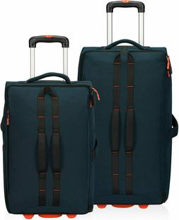 2pcs Set   Rolling Upright Luggage  Approved Travel Suitcase