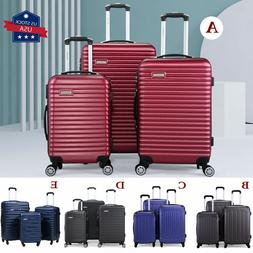 3 Piece Luggage Set Carry-On Travel Trolley Suitcase ABS Nes