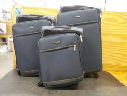 AmazonBasics 3 Piece Softside Carry-On Spinner Luggage Suitc