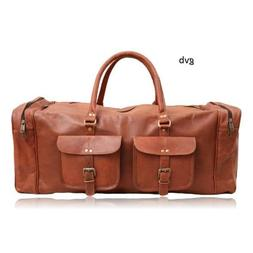 30 Inch Absolute Leather Duffel Men's Overnight Carry-On Tra