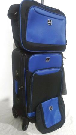 "$300 New TAG Endure 20"" Carry On 3 Piece Set Suitcase Spinne"