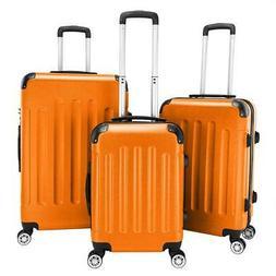 "3Pcs 20/24/28"" Luggage Travel Bag TSA Lock ABS Trolley Carry"