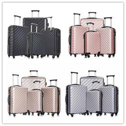 4 Piece Luggage Set Carry on Luggage with Spinner Wheels Tra