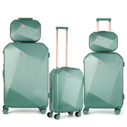 5 PCS Travel Spinner Luggage Set ABS Trolley Carry On Suitca
