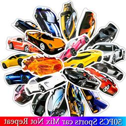50PCS/ Pack Sports Car Stickers Set Car Fan Stickers For Lug