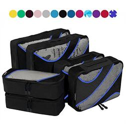 6 Set Packing Cubes,3 Various Sizes Travel Luggage Packing O
