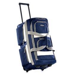"""Olympia 22"""" 8 Pocket Rolling Duffel Bag"""