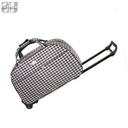 Rolling Wheeled Duffle Bag Briefcase Trolley Travel Suitcase