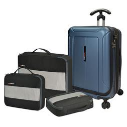 Barcelona 4pc Carry-on PC Hardside Spinner Expandable Luggag