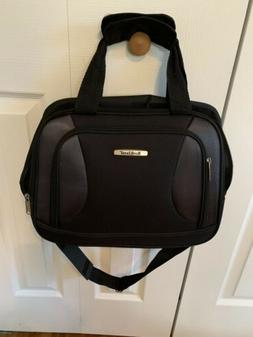 Rockland Black Luggage Carry On Bag Lots Of Pockets Gym Offi