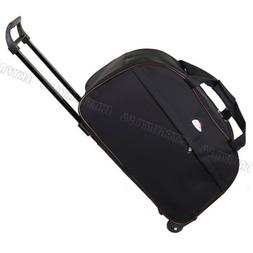 Black Rolling Tote Bag Duffle Wheeled Carry On Luggage Trave