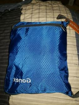 Gonex blue Travel Duffel Bag Portable Carry on Luggage Perso