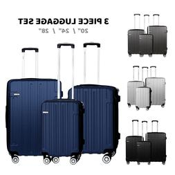 Cabin Suitcase Carry On ABS 4 Spinner Wheels Hard Shell Lugg