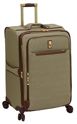 "London Fog Cambridge II 25"" Expandable Spinner, Olive Hounds"