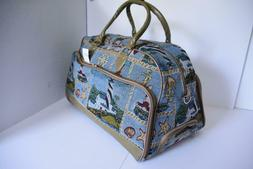 """NAUTICA Carry-on Rolling Bag Luggage Lighthouse Tapestry 20"""""""