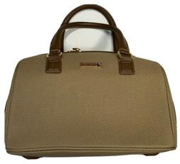 London Fog Carry On Chatham Luggage Bag-Brown Tweed Oxford T