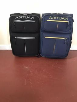 carry on rolling luggage suitcase navy yellow