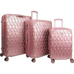 J World New York Dia 3 Piece Hardside Spinner Luggage Luggag
