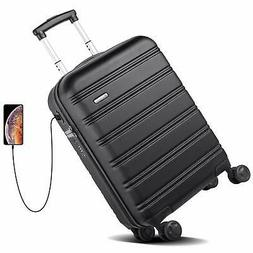 Hardside 20 Inch Spinner Luggage Carry On Suitcase With Two