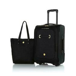 JOY Rich Leather Luggage Ensemble with Revolutionary Spinbal