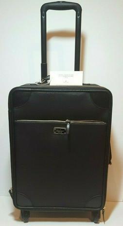 Kate Spade Black Leather International Travel Carry-on Lugga