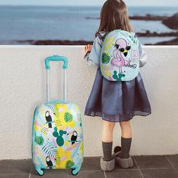 Kids Carry On Luggage Set 12'' Backpack & 16'' Rolling Troll