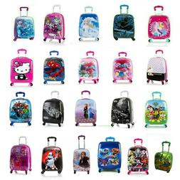 Kids Spinner Luggage Hard Side Carry-on Suitcase for Boys/Gi