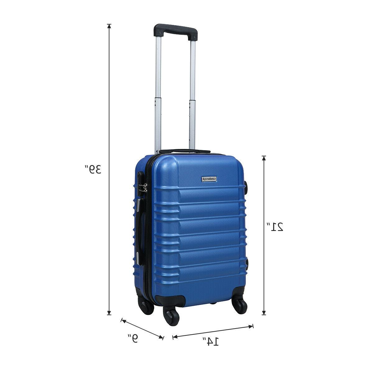 """20"""" ABS Carry Luggage Trolley Travel"""