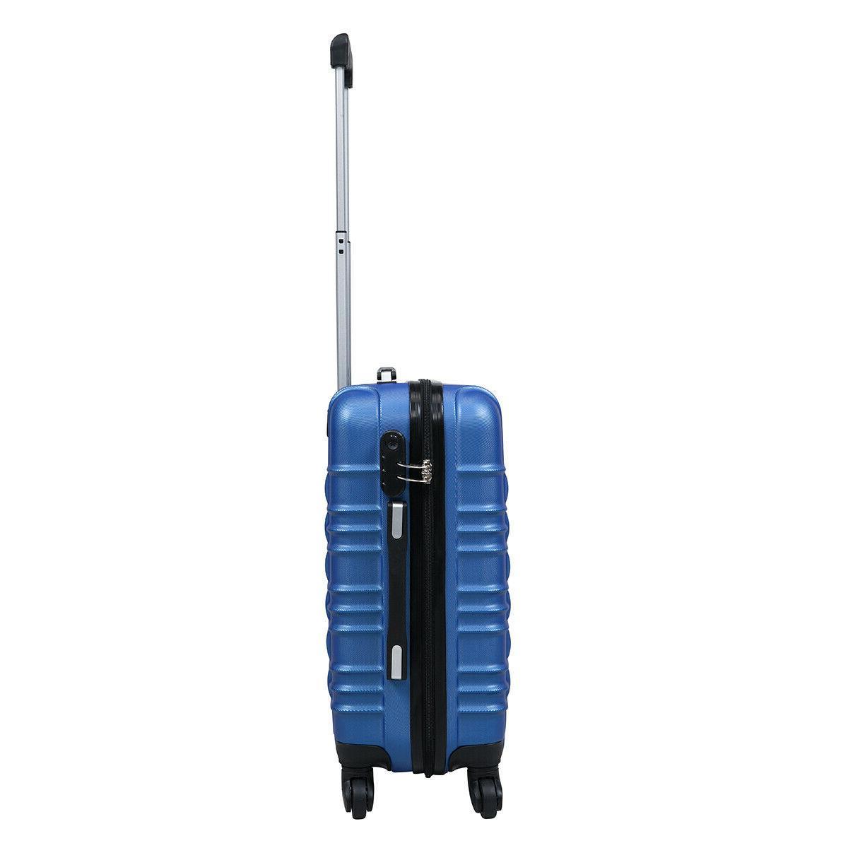 """20"""" Luggage Hardside Nested Trolley Travel Suitcase"""