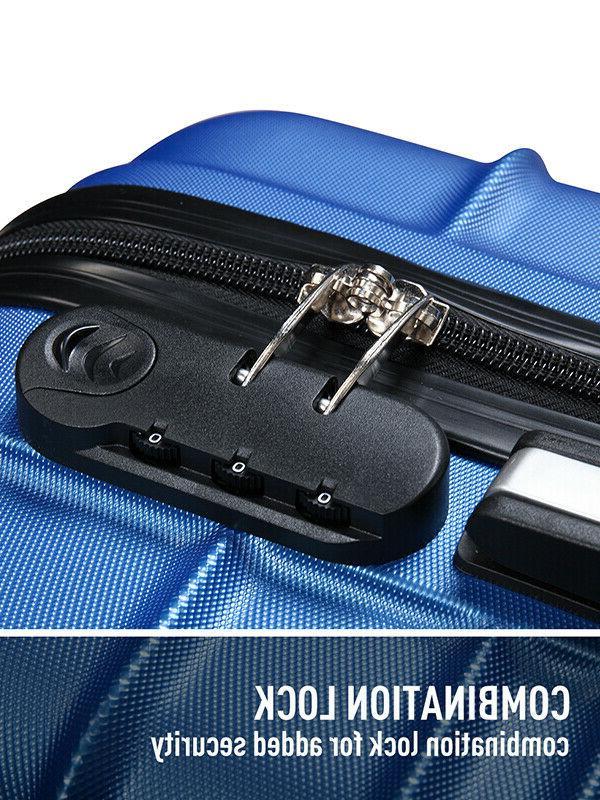 "20"" Luggage Hardside Nested Spinner Trolley Travel"