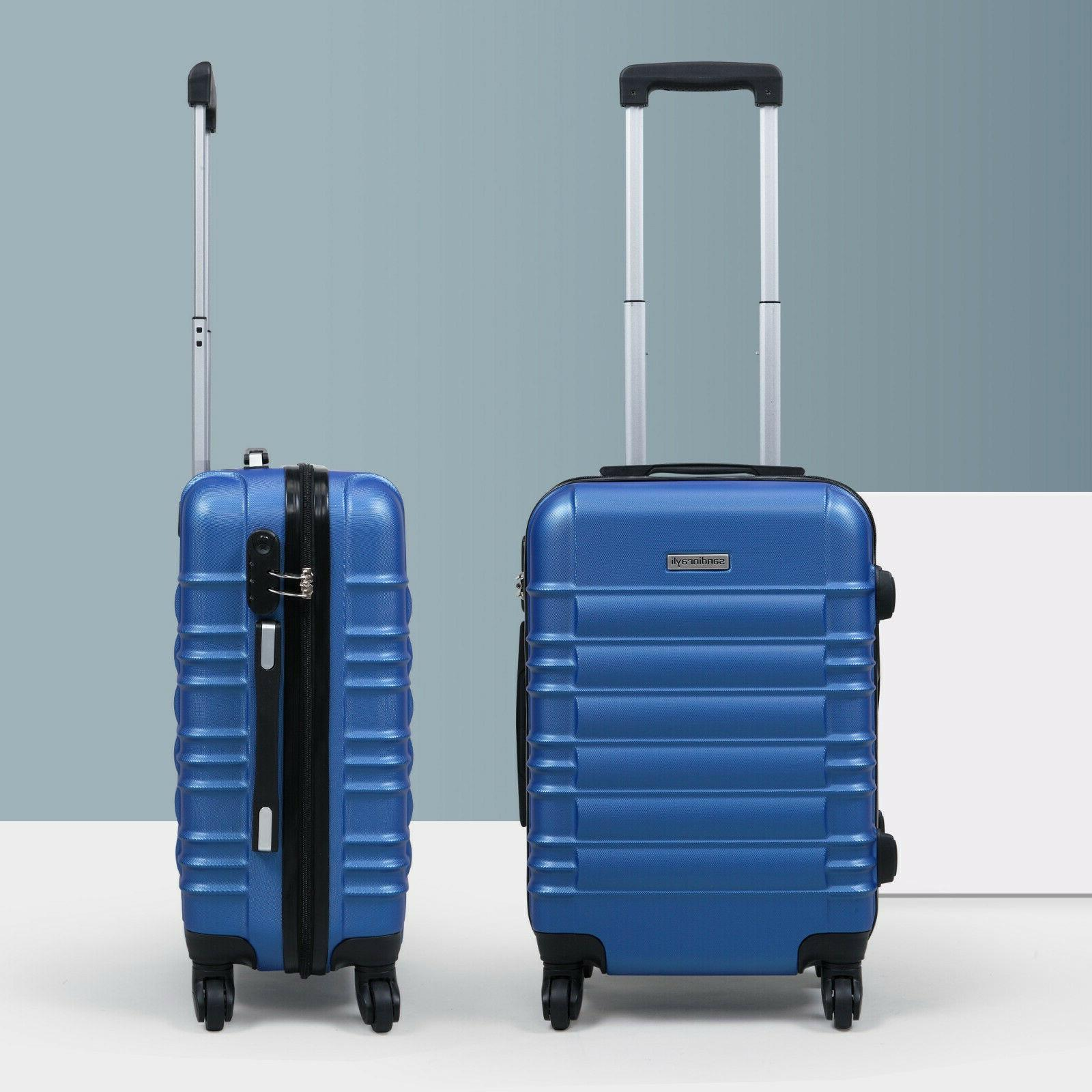 20 abs carry on luggage hardside nested