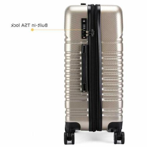 20'' Luggage Expandable Carry On Locks Lightweight Spinner Wheels