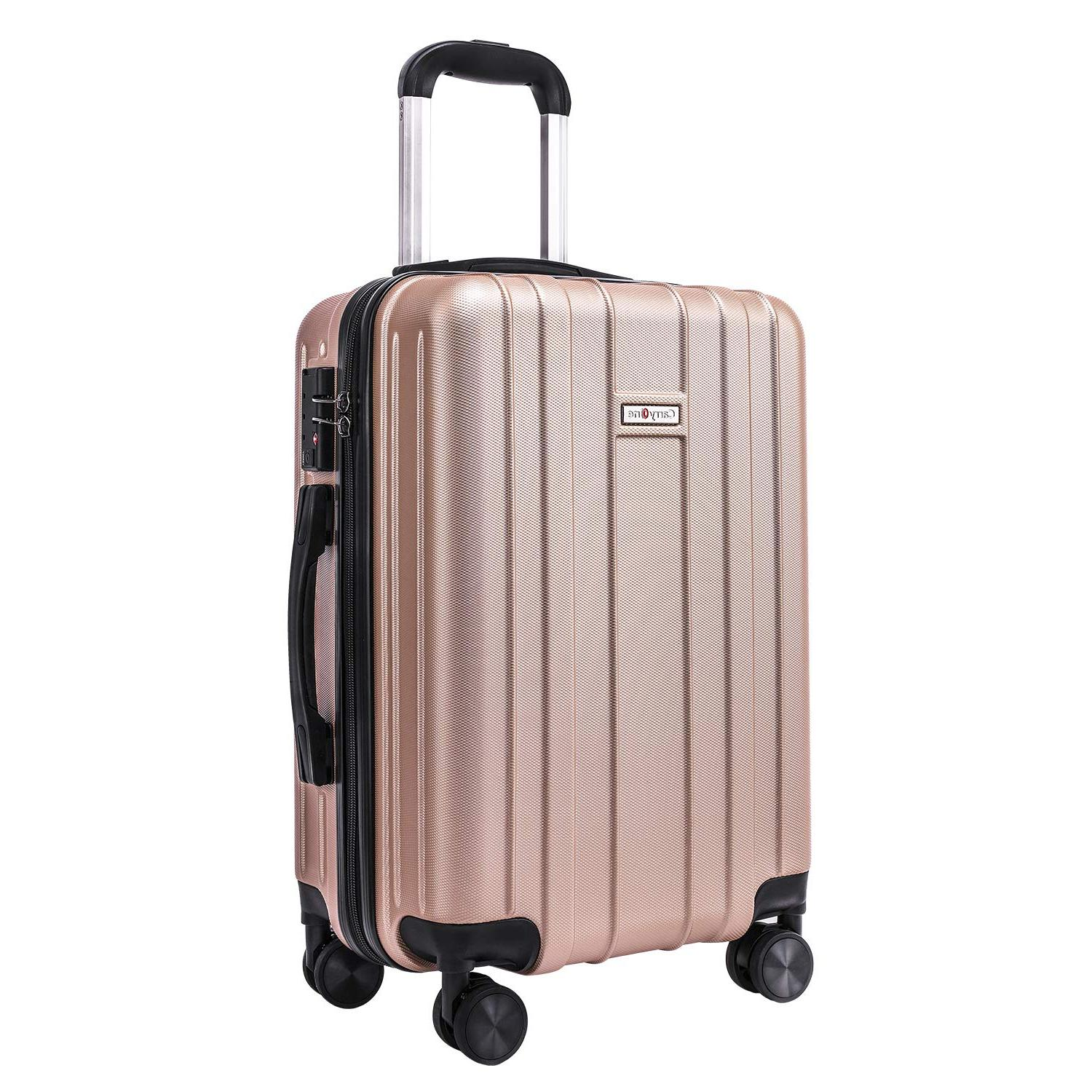 20in carry on luggage suitcase built in