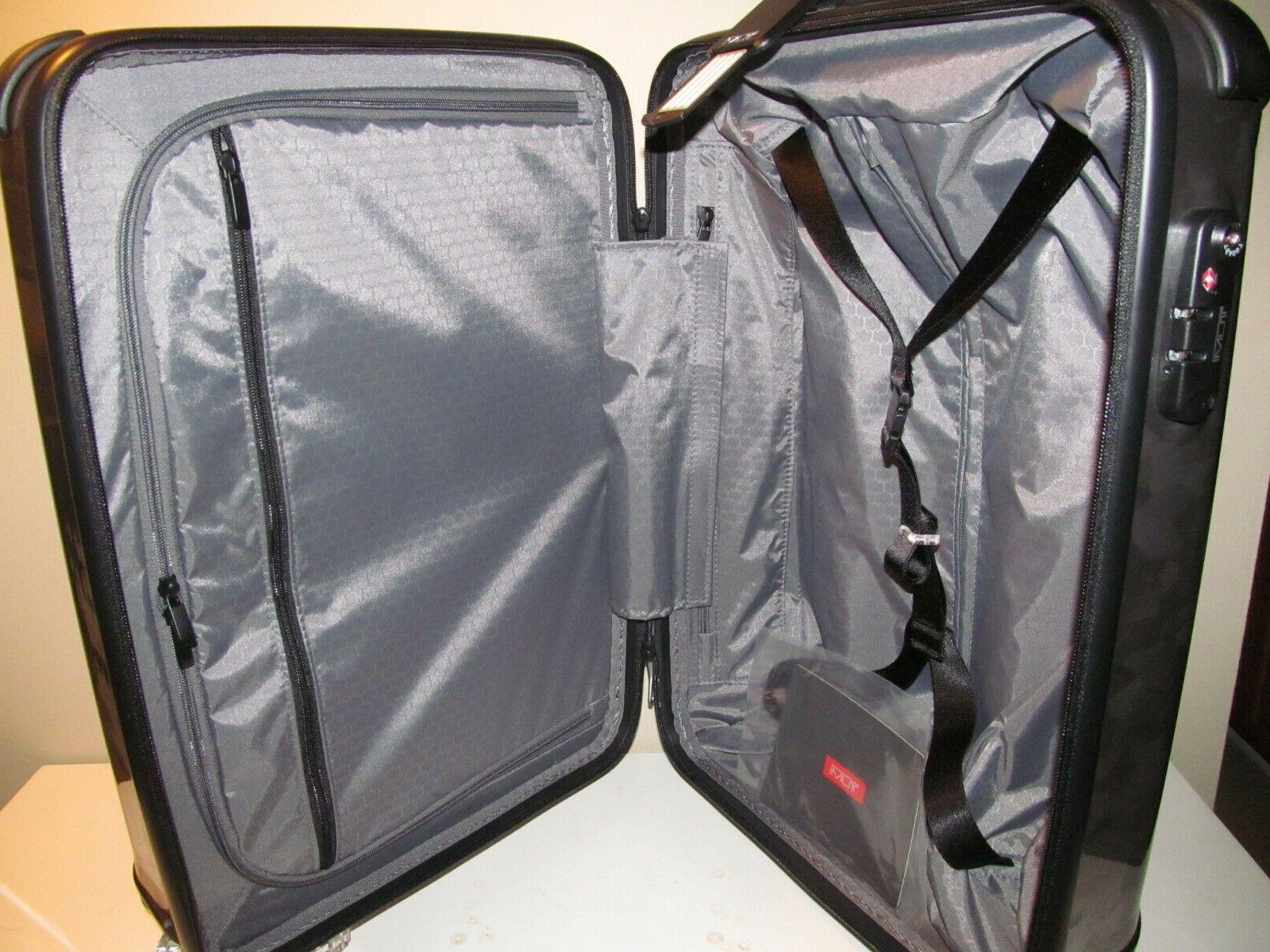 Tumi Black & Gray Camo Hardside Carry On, Lock System,